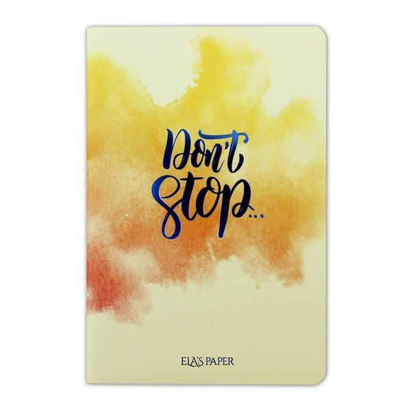 Watercolor Dont Stop Defter