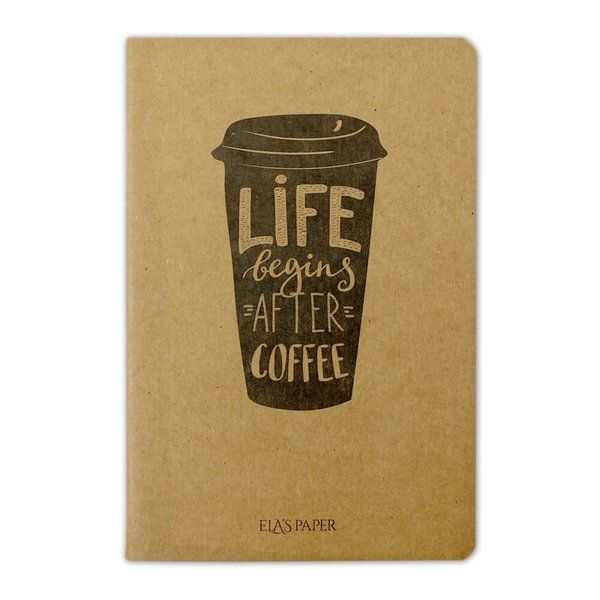 Life Begins Coffee Defter