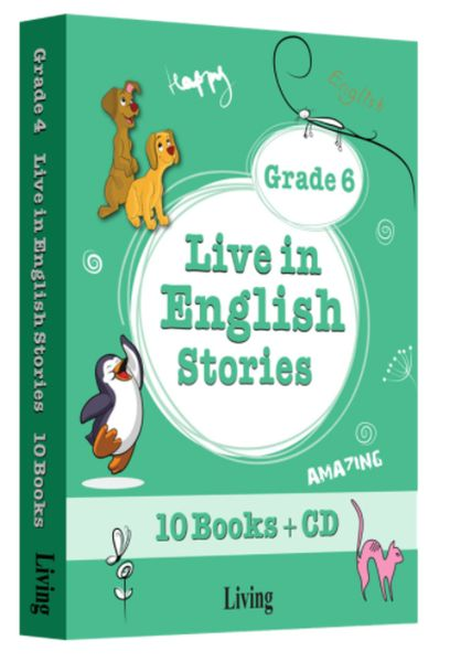 Grade 6 Live in English Stories 10 Books CD