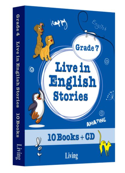 Grade 7 Live in English Stories 10 Books CD